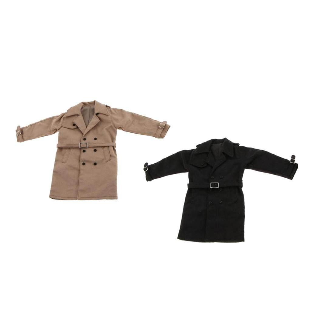Kesoto 1/6 Scale 2pcs Long Jacket Overcoat for 12'' Hot Toys Enterbay