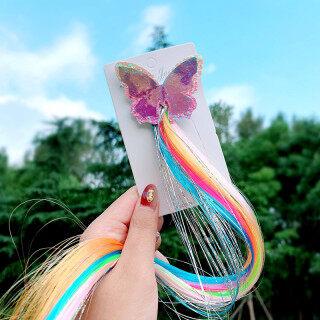 Tóc kẹp đầy màu sắc unicorn dành cho bé gái thích hợp thắt tóc cột tóc đuôi ngựa FINE TOO thumbnail