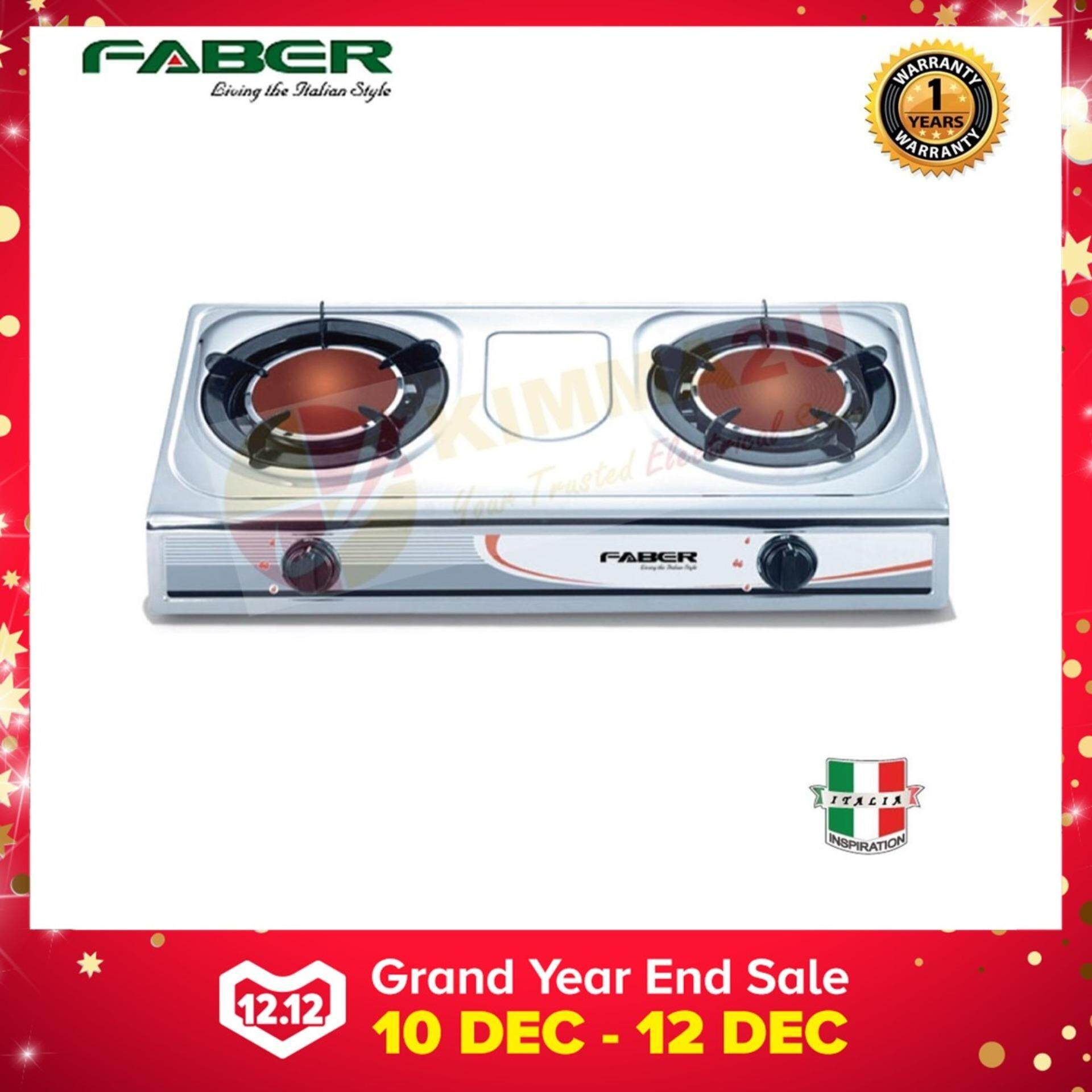 Authorised Dealer Faber Fs5550 2 Burners Stainless Steel Infrared Gas Cooker Lazada
