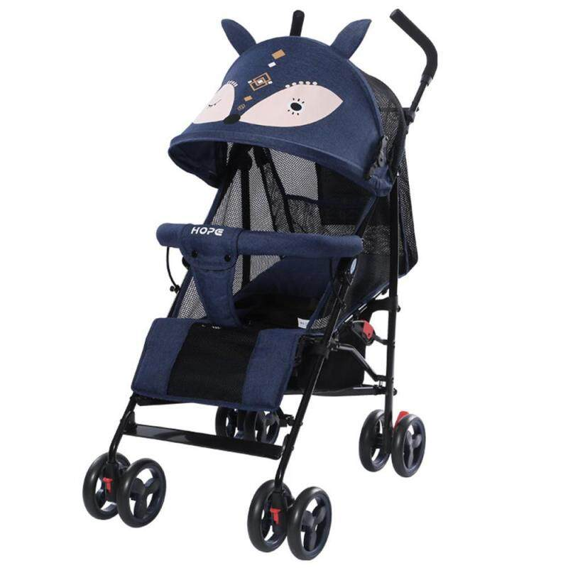 LayOPO {COD available}Summer stroller, lightweight folding stroller, reclining shock absorber childrens trolley Singapore