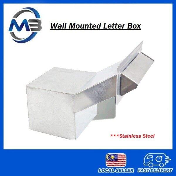 Premium Stainless Steel Wall Mounted Letter Box/ MailBox/ Peti Surat Besi keluli tahan karat Dalam Dinding