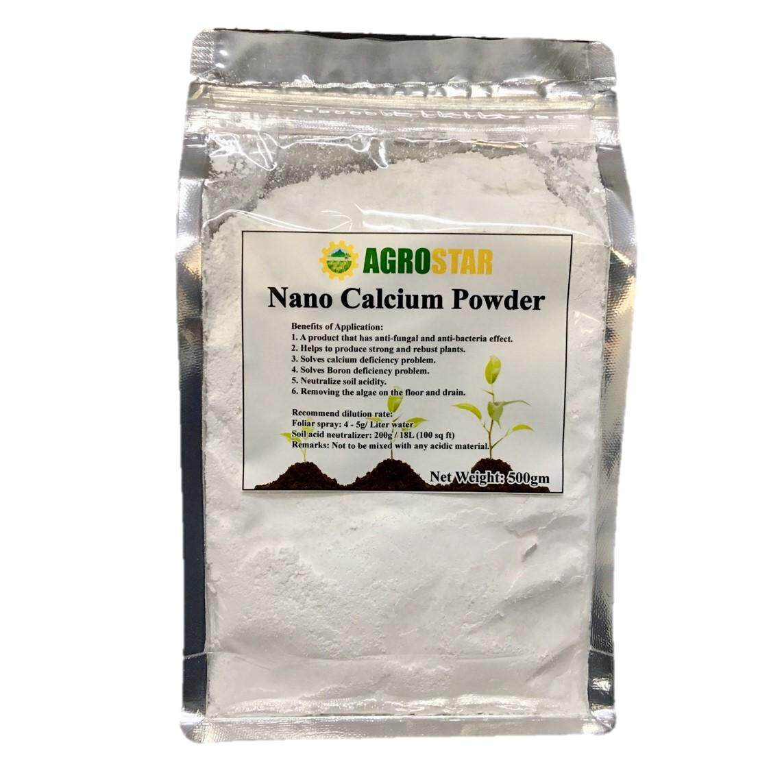 Nano Calcium Powder For Plant Anti-Fungal, Anti-Bacteria And Removing The Algae 500g (white) By Agro Star.