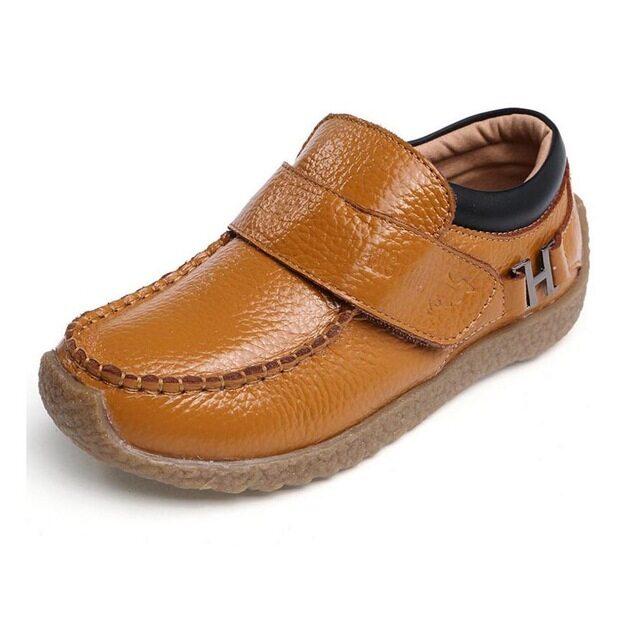 Giày Da Trẻ Em Giày Da Thật Cho Bé Trai Dự Tiệc Trang Trọng, Giày Đơn Cho Học Sinh Nam, Giày Đế Bằng Da Cho Trẻ Em Lớn