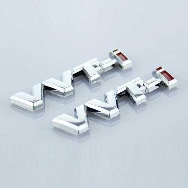 2 miếng dán biểu tượng chữ cái bạc 90 × 20mm VVT-I cho logo xe ô tô Toyota vvti biểu tượng bên hông Nhãn dán vành xe