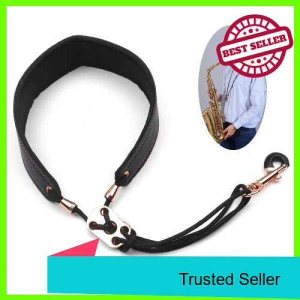 Adjustable Saxophone Neck Strap Leather Sax Strap Metal Hook for Tenor/ Soprano/ Alto Saxophones Clarinet (Standard) Malaysia
