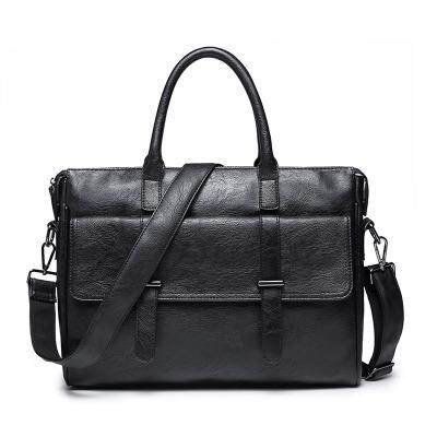 Mens Tote Bag Business Briefcase British Style Crossbody Mens Fashion Computer Bag Travel Shoulder Bag