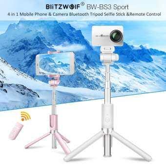 BlitzWolf BW-BS3 3 ใน 1 บลูทูธไม้เท้าเซลฟีขาตั้งสามขาสำหรับกล้องกีฬาโทรศัพท์ Gropro-