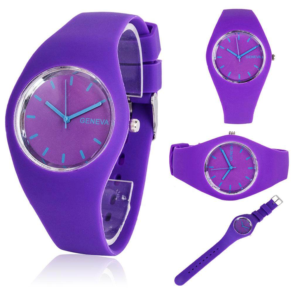 Efashion Mall Geneva Watch Wrist Watches Jelly Silicone Watchband Male Female Colorful Malaysia