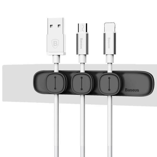 Bảng giá Chất lượng cao Baseus Cáp USB Clip bàn sắp xếp gọn gàng dây giữ chì với mặt sau dính Phong Vũ