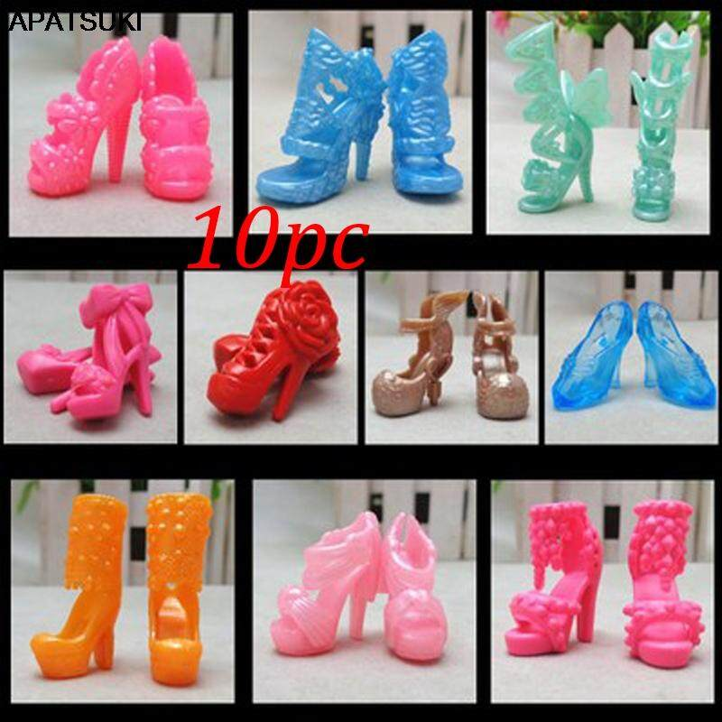 """10pairs//set Fashion High-heels Shoes For 11.5/"""" Doll Sandals 1//6 Doll Shoes Toy"""