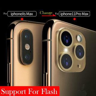 Kính dán sang trọng thế hệ thứ 5 dán ống kính máy ảnh thay đổi theo giây cho Iphone 11 Pro Max Kính dán bảo vệ làm máy ảnh giả cho iPhone X XS MAX thumbnail