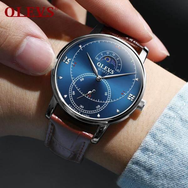 Nơi bán OLEVS đồng hồ nam thể thao dong ho dien tu đồng hồ  quartz thời trang pin đồng hồ Không thấm nước đồng hồ dây da