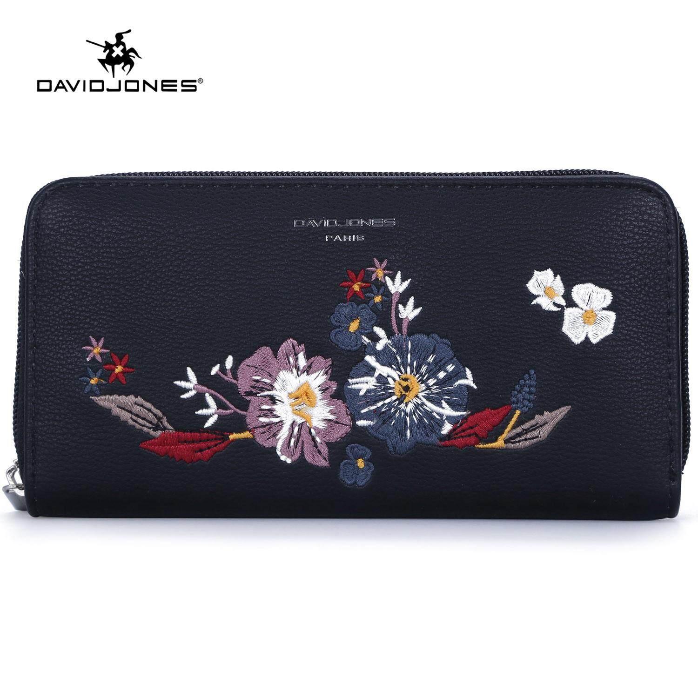 David Jones Paris women handbag pu leather female purse bag small flora lady wallet bag