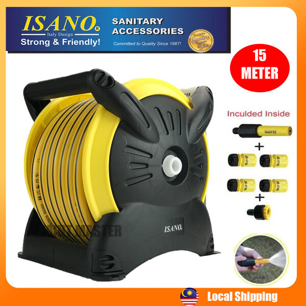 ISANO STACKABLE HOSE REEL SET 20METER WITH WALL MOUNTING