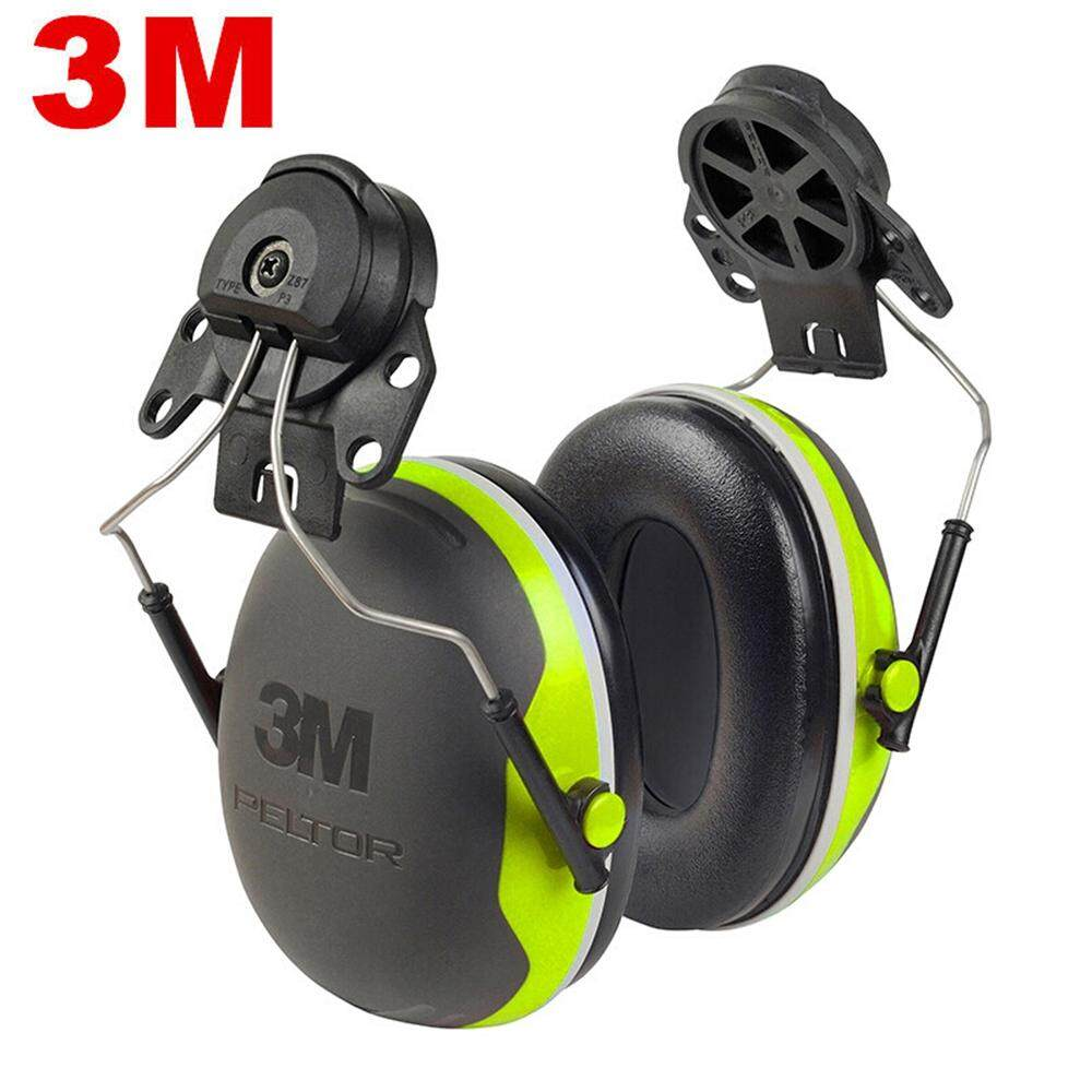 3M X4P3 Cap-Mount Earmuffs Safety Ear Muffs Hearing Protection NRR 25dB Sound Insulation Anti-noise