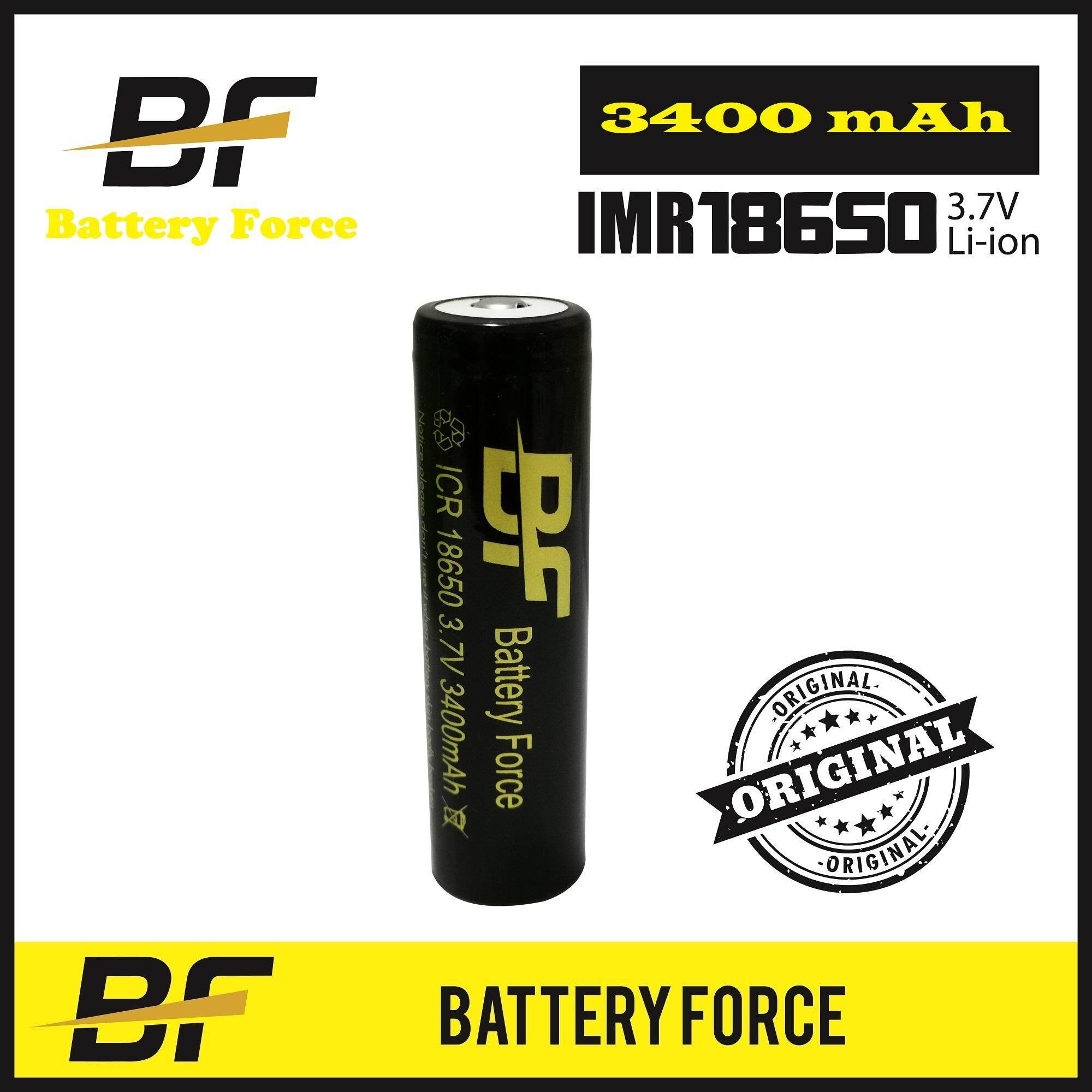 3.7V 18650 3400mAH Battery Force Original Button Top Rechargeable Lithium Ion Battery ICR