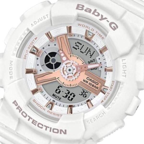 Casio_Baby_G_Ga110 White & Rose Gold Watch For Women Malaysia