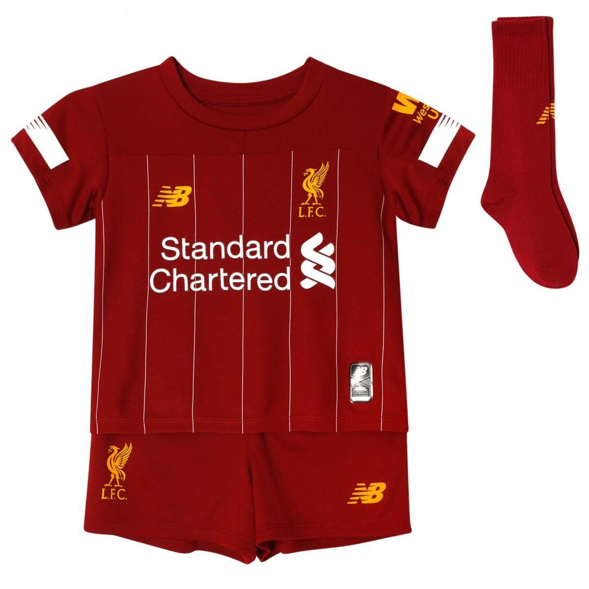 buy popular 5a9b8 77107 Top Quality 2019/20 Liverpool_ Younger Kid's Home Football Soccer Kit  Jersey FIRMINO NO.9 MANE NO.10 M.SALAH NO.11 Children Soccer Jersey WITH  SOCKS