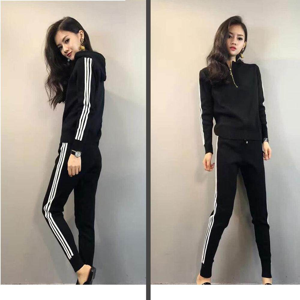d854239acda  Lowest Price across Network Ready Stock Tracksuit for Women Autumn Loose  Leisure Suit Female