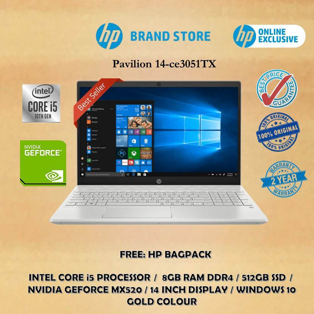 HP Laptop Pavilion 14-ce3051TX (i5, 8GB, 512GB, MX520, Gold) Online Exclusive Malaysia