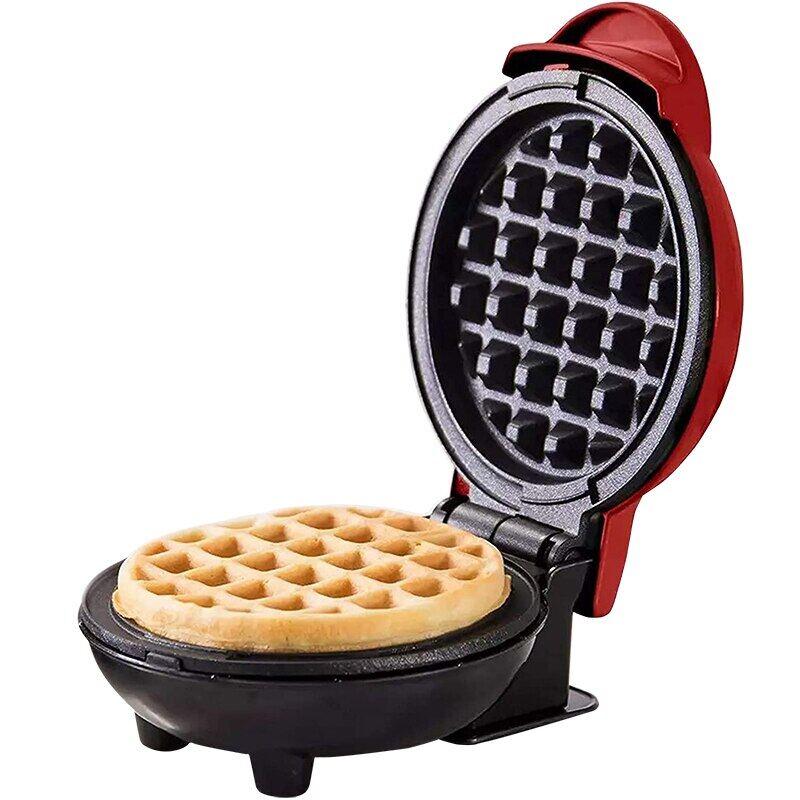 Máy Làm Bánh Quế Điện Mini, Lò Nướng Bánh Trứng Bule Máy Làm Bánh Quế Ăn Sáng, Chảo Nướng Bánh Trứng Eggette Nồi Làm Bánh Quế Mini