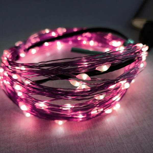 Bảng giá Siêu Âm Góc Đèn Giáng Sinh Trang Trí Giáng Sinh Đèn Dải LED Đèn Cho Dịp Lễ 1/5/10Meter 10/50/100 Led Hạt Dây Bạc Với Phích Cắm USB