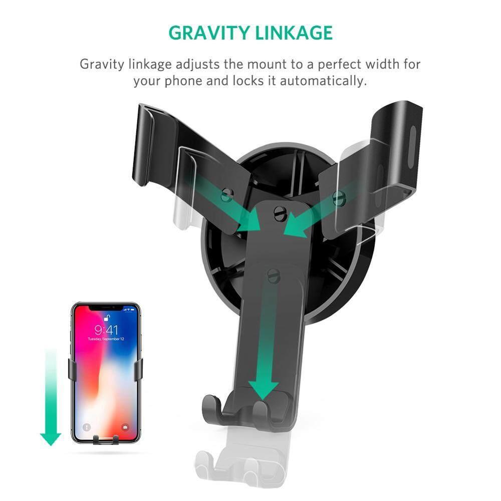 Lvzedianzi Ugreen Mobil Tempat Ponsel untuk iPhone X X 8 7 Penopang Penyangga Udara Pelat Logam Ponsel