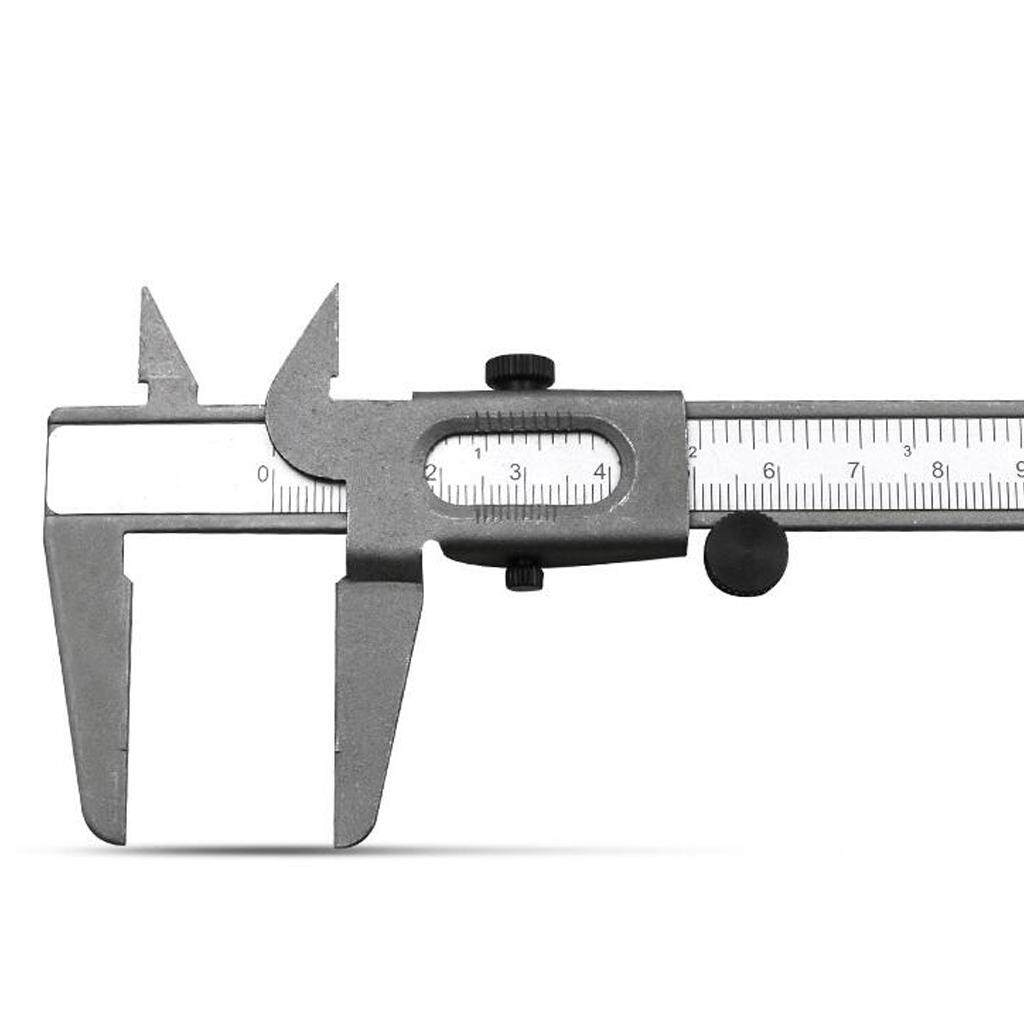 Loviver Stainless Steel Vernier Caliper Micrometer Durable Stainless Steel Measuring Tool Caliper for Precision Measurements