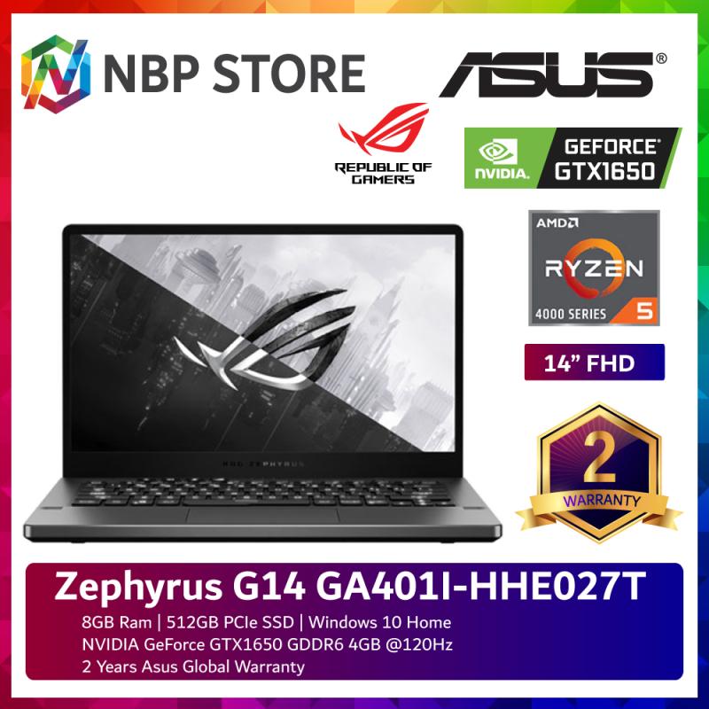 Asus Zephyrus G14 GA401I-HHE027T 14 FHD 120Hz Gaming Laptop ( Ryzen 5 4600HS, 8GB, 512GB SSD, GTX1650 4GB, W10 ) Malaysia