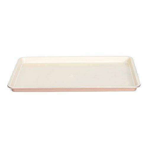 Patisse 03374 Ceramic Round Quiche pan with Removable Bottom with Non-Stick Surface Cream//Copper