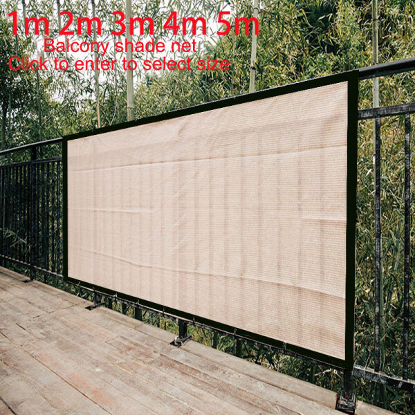 1m 2m 3m 4m 5m Balcony Privacy Screen Fence Pools Deck Sun Shade Net Mesh Sail Patio Cover UV Block Garden Wind Protection