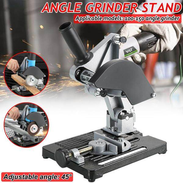 45° Angle Grinder Stand Adjustable Cast Iron Cutting Fixing Clamp Holder Bracket