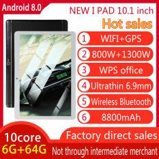 Kingslim 10.1 Inch Android 8.0 PC 3G GỌI Bluetooth WIFI 10 Lõi 6G + 128G Camera Kép Cảm Biến Trọng Lực Điều Hướng GPS Thẻ Kép Chế Độ Chờ 16GB Bộ Nhớ 00