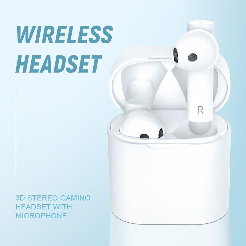Tai Nghe Bluetooth 5.0 Thật Tai Nghe Nhét Tai Thể Thao Không Dây TWS Tai Nghe Chơi Game Âm Thanh Nổi 3D Có Mic