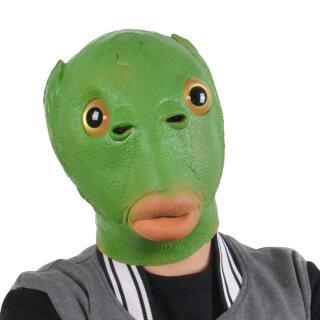 Sanwood Mũ Trùm Đầu Cá Màu Xanh Lá Silicon Cho Người Lớn Unisex Đạo Cụ Trang Phục Hóa Trang Dự Tiệc thumbnail