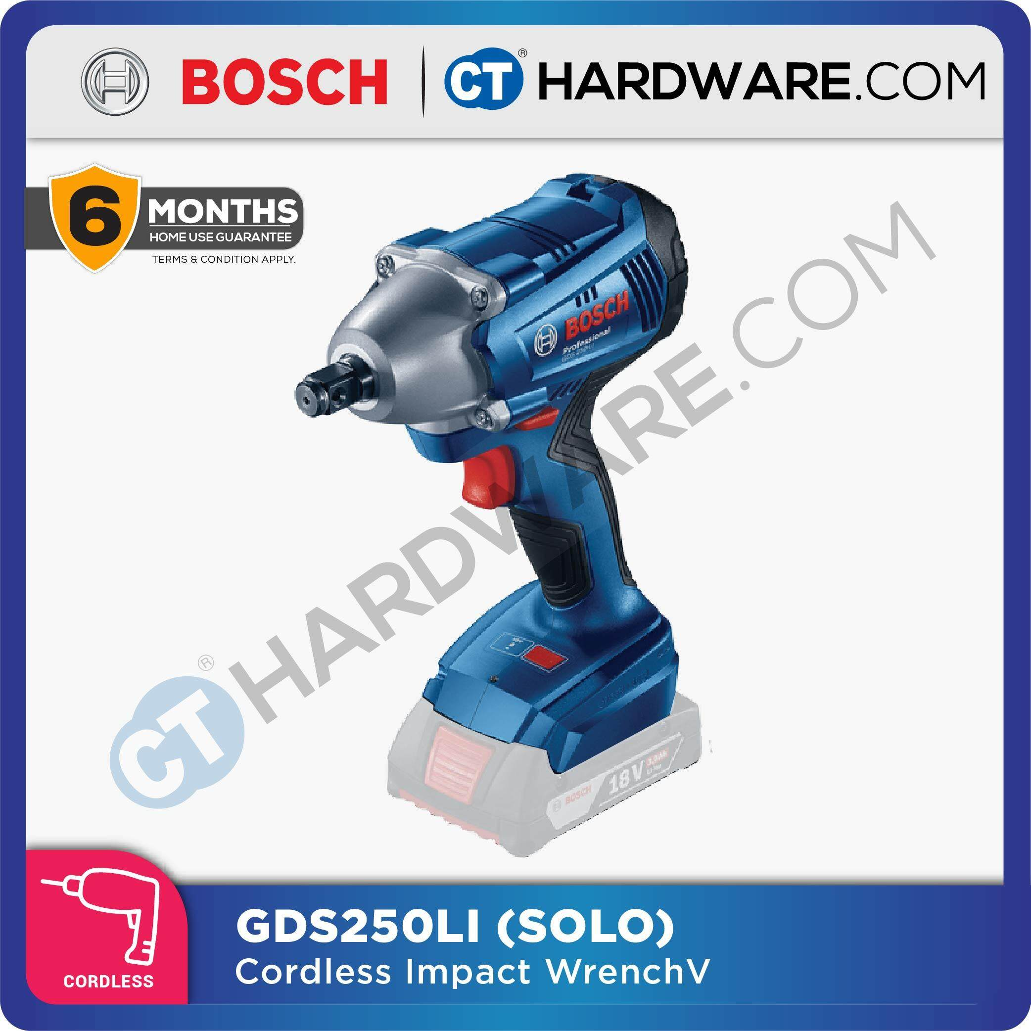 BOSCH GDS 250-LI Professional Cordless Impact Wrench 18V (NO BATTERY & NO CHARGER) [GDS250LISOLO]