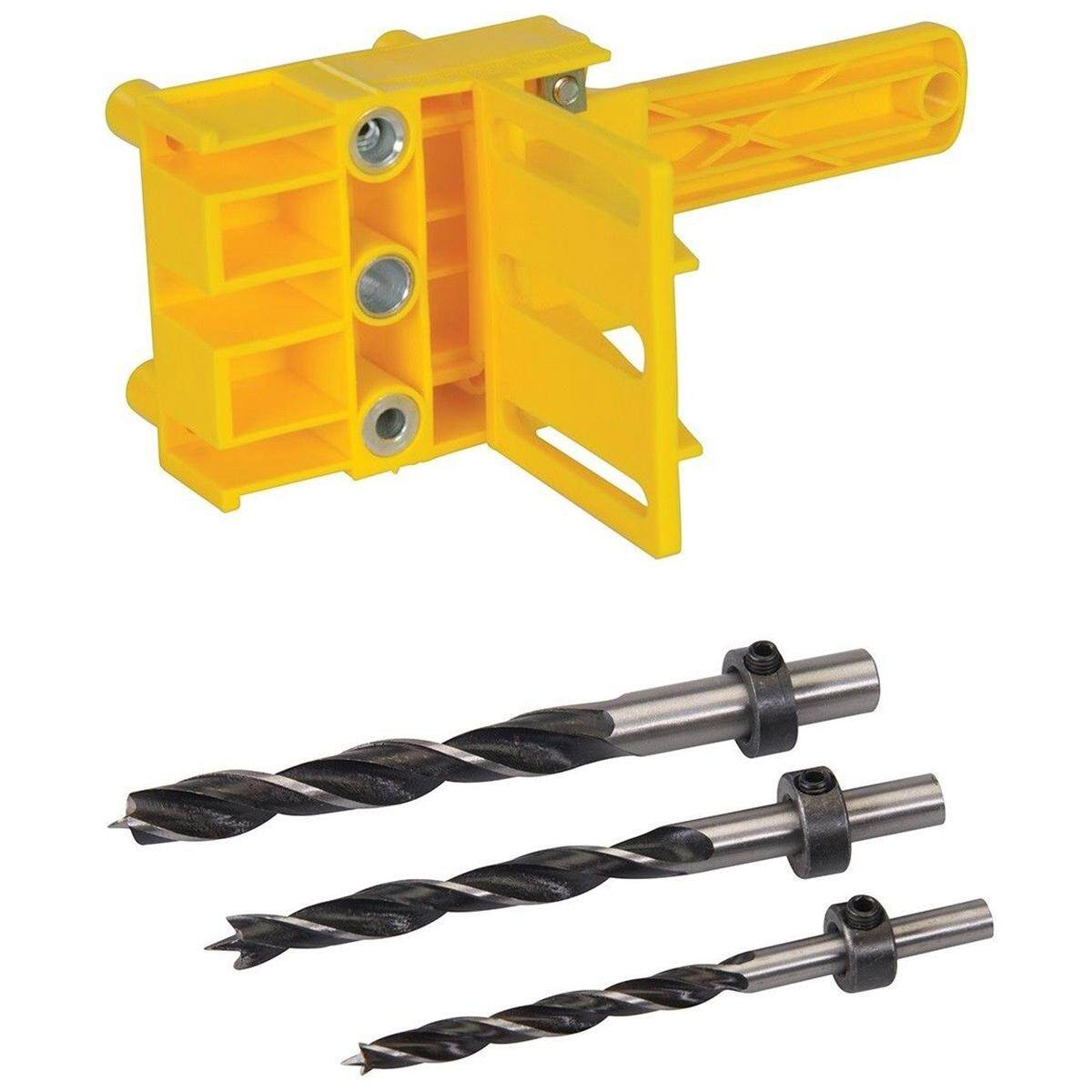 Dowel Drill Set For Pocket Hole Jig 6, 8 & 10Mm Carpenters Joint Tool