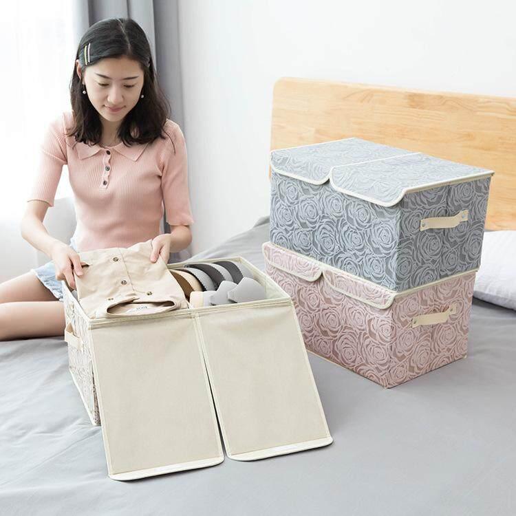 New Receiving Box Double Cover Finishing Receiving Box Kotak Menerima Lipat Non-Woven Fabric By Wenqiang.