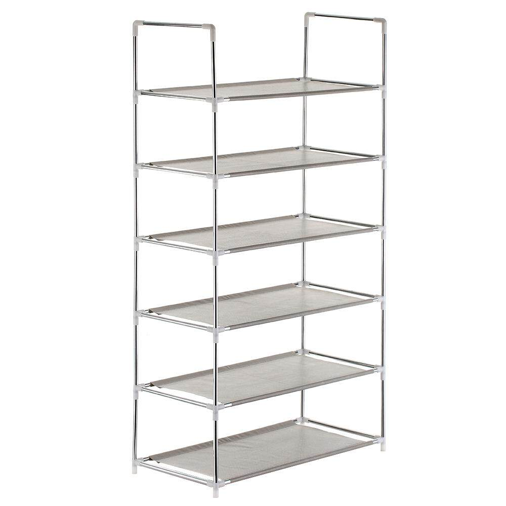6-Tier Shoe Rack Shoe Tower Shelf Storage Organizer Cabinet Stackable Shelves Holds 18 Pairs of Shoes