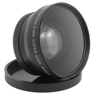 Ống Kính HD Góc Rộng 52Mm 0,45x Ống Kính Máy Ảnh Góc Rộng Chuyển Đổi Với Ống Kính Macro Khung Hợp Kim, Phụ Kiện Ống Kính Canon Nikon Sony thumbnail