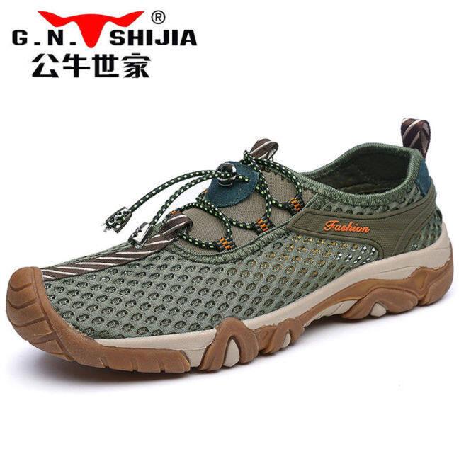Giày Shijiaxi Cỡ 39-45 Giày Thường Ngày Ngoài Trời Giày Nam Bộ Giày Lái Xe Vải Lưới Nhẹ Chân Giày Nam Mùa Thu Thoáng Khí. giá rẻ