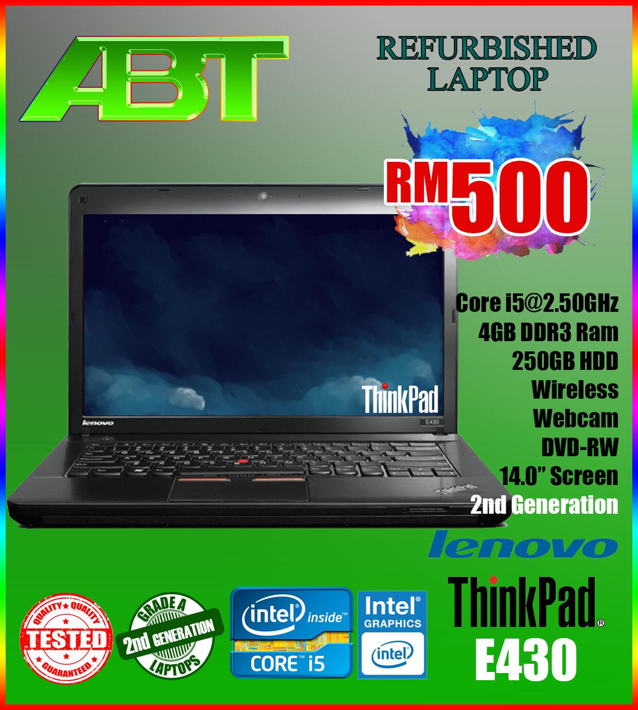 LENOVO THINKPAD EDGE E430 / Core i5@2nd Gen / 4GB DDR3 / 250GB / 14.0  Screen (GRADE A REFURBISHED LAPTOP) Malaysia