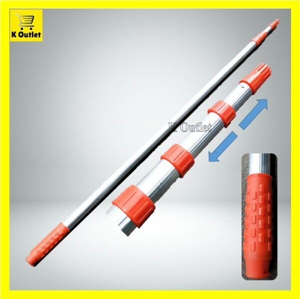 【4Layers=5m】SOMAX Thick Steel Extendable Adjustable Paint Pole Tree Rod / Galah Cat Pokok