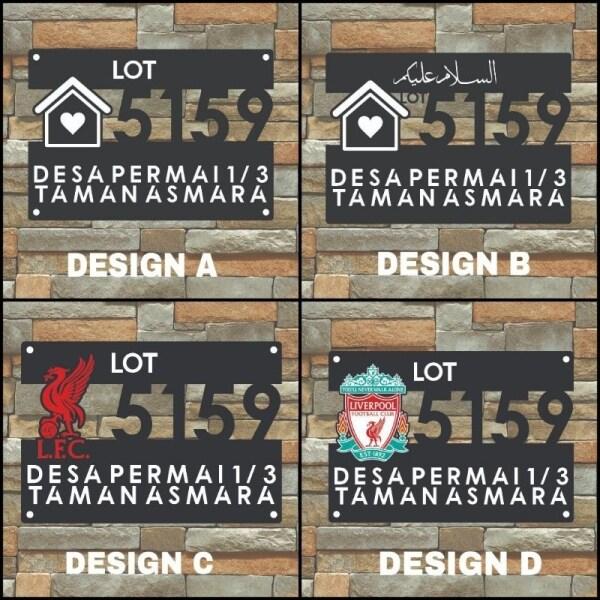 Modern House Number Plate Acrylic Double Layer / Nombor Plat Rumah / Signage Murah Cantik / Signage Rumah Viral/