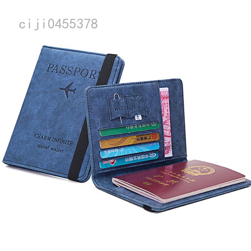 Ví Đựng Hộ Chiếu Đa Năng Bao Đựng Hộ Chiếu Siêu Mỏng PU Ngân Hàng Thẻ Tín Dụng Ví Đựng Thẻ ID Ví Du Lịch Udnisex
