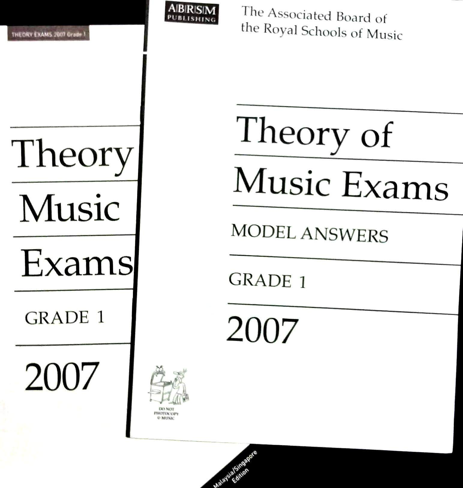 ABRSM Theory of Music 2007 Exam Papers + ANSWERS Grade 1