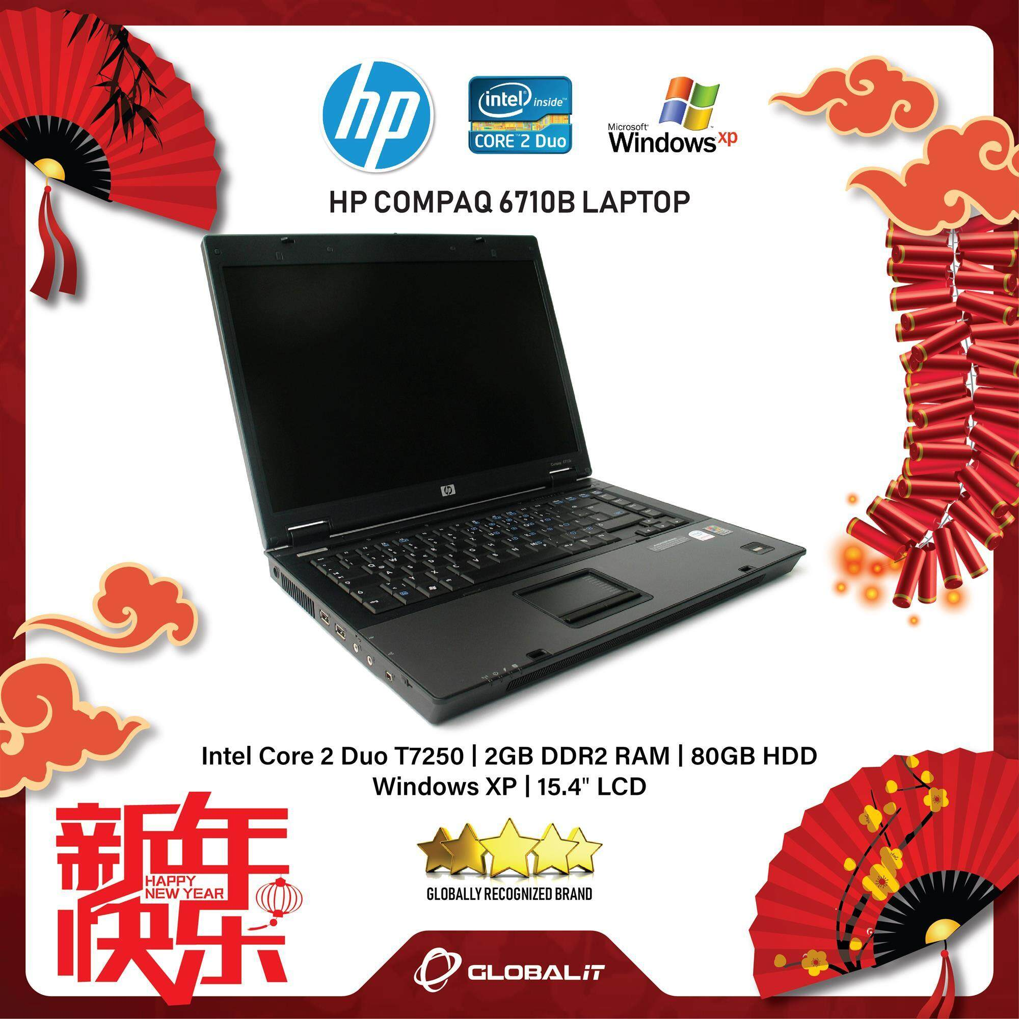(Refurbished Notebook) HP Compaq 6710B Laptop / 15.4 inch LCD / Intel Core 2 Duo / 2GB Ram / 80GB HDD / WiFi / Windows XP Malaysia