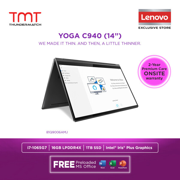 Lenovo Yoga C940-14IIL 81Q9006AMJ | i7-1065G7 | 16GB RAM 1TB SSD | 14FHD Touch | Win 10 | FREE Microsoft Office and Bag Malaysia