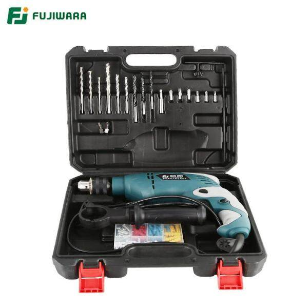 FUJIWARA 710W 220V 50HZ Electric Impact Drill 18/38/68 Sets Household Hand-held Hammer Wall Drilling Woodworking Drill Drilling Machine