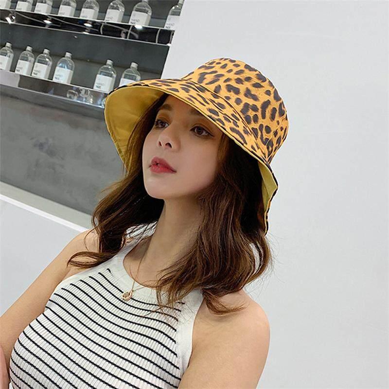 50fc47f7 Lofty Fashion Women Bucket Hat Girls Visor Leopard Double-Sided Fisherman  Hat